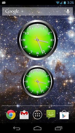 3D Glow 2 Analog Clock Widget