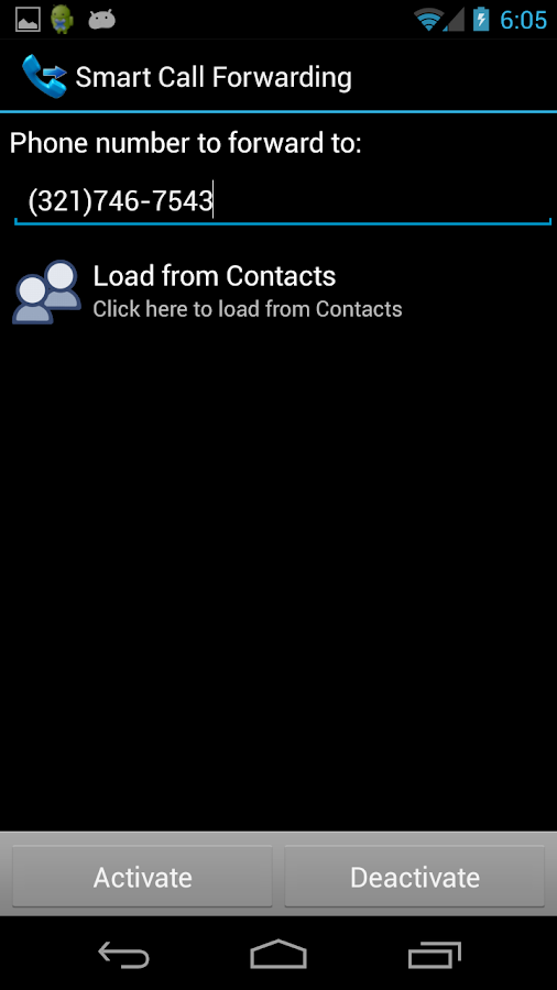 Smart Call Forwarding- screenshot