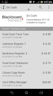 Blackboard Transact eAccounts- screenshot thumbnail