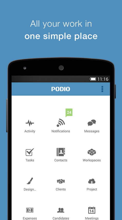 Podio - screenshot