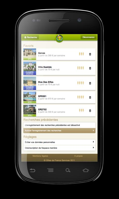 Gîtes de France- screenshot