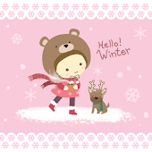 Winter Girl Atom Theme