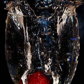 One more strawberry by Valerie Dyer - Abstract Water Drops & Splashes (  )