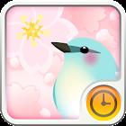 Spring flower Clock Widget icon
