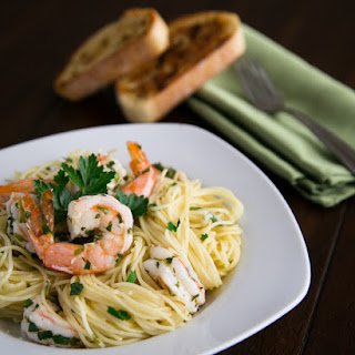 Angel Hair with Lemon Shrimp Scampi