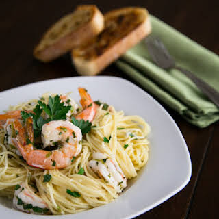 Angel Hair with Lemon Shrimp Scampi.