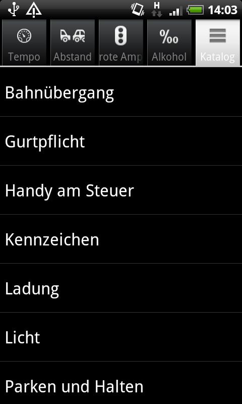 Bußgeldrechner - screenshot