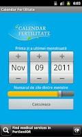 Screenshot of Calendar Fertilitate