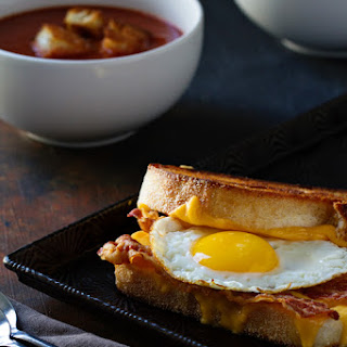 Bacon and Egg Grilled Cheese Sandwiches.