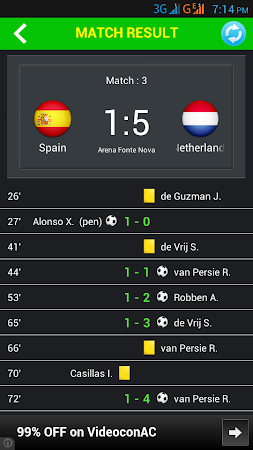 Football World Cup Live Score 1.6 screenshot 58198