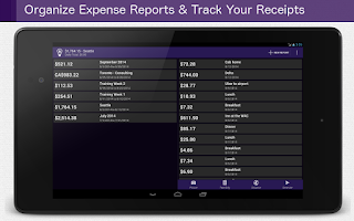 Screenshot of Smart Receipts