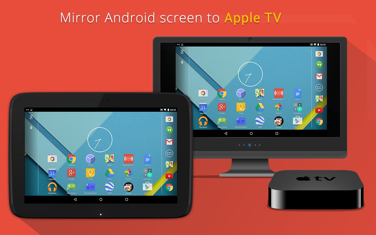 Mirroring360 sender basic android apps on google play for Mirror your android screen to a pc