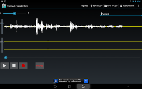 Twotrack audio recorder free - screenshot thumbnail