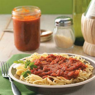 Homemade Canned Spaghetti Sauce.
