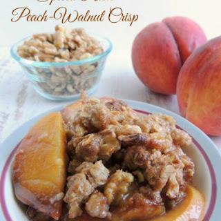 Rum Spiced Peach-Walnut Crisp