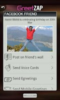 Screenshot of GreetZAP:Social,VoiceGreetings