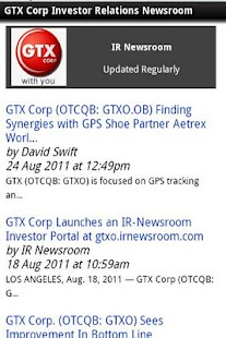 GTX IR-Newsroom - screenshot thumbnail