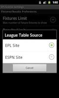 Screenshot of Simple EPL Scores