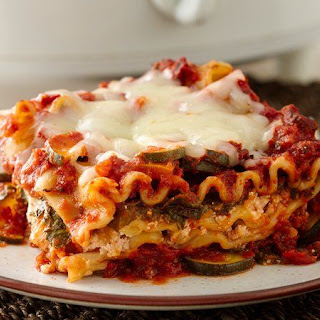 Skinny Slow-Cooker Spinach Lasagna.