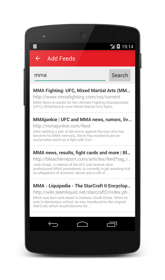 MMA News- screenshot
