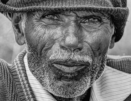 Curious old man by shrikrishna bhat black white portraits people curious