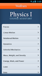 Physics I Course Assistant - screenshot thumbnail