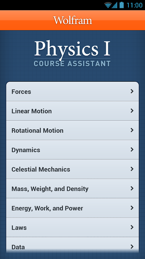 Physics I Course Assistant - screenshot