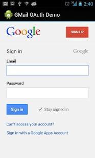 GMail OAuth Demo - screenshot thumbnail