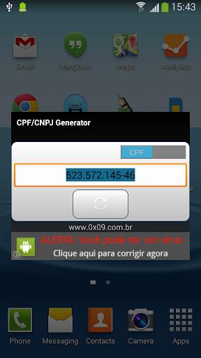 CPF CNPJ Generator