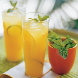 Orange-Lime Cocktails.