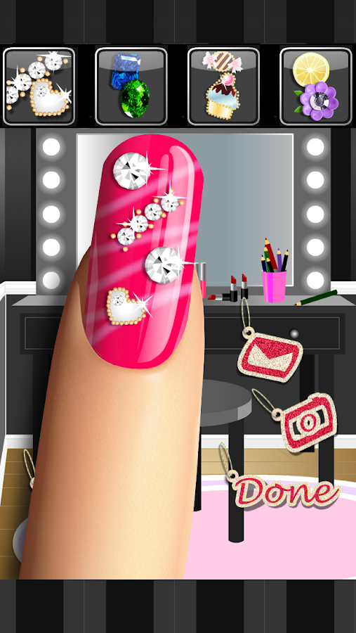 Glitter Nail Salon: Girls Game- screenshot