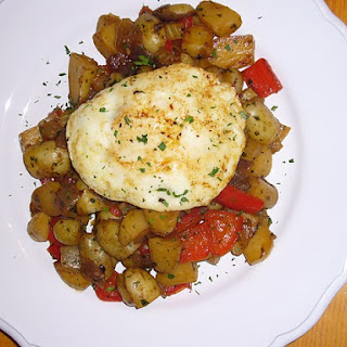 Vegetable Hash & Fried Egg.