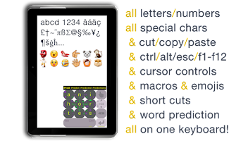 Screenshot of MessagEase Keyboard