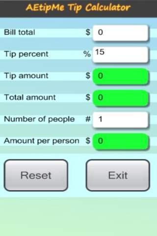 AE tip calculator AEtipMe