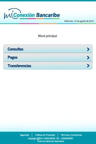 Mi Conexión Bancaribe- screenshot