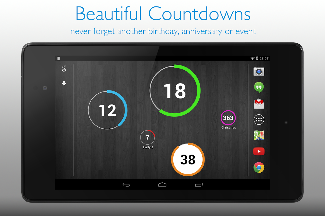 Countdown Widget - screenshot