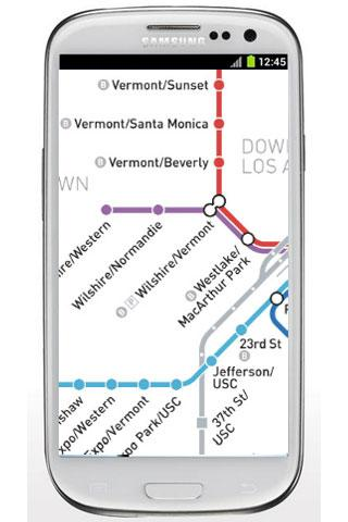 Los Angeles Subway Map - screenshot