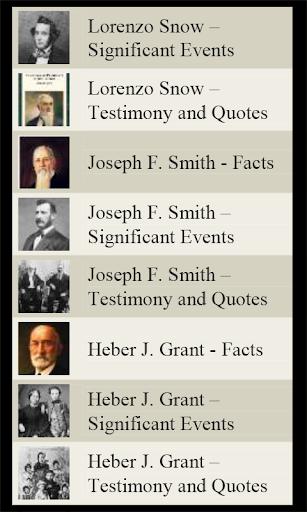 LDS Church Presidents Mormon