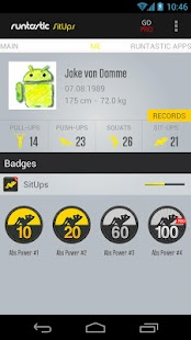 Runtastic Sit-Ups Trainer - screenshot thumbnail