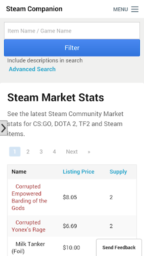 Steam companion