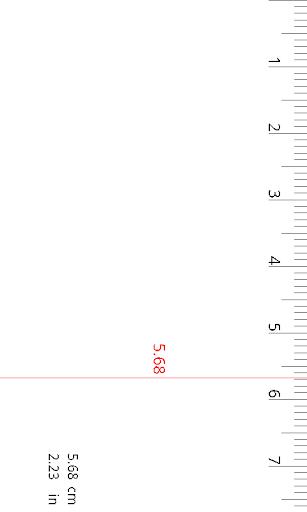 Ruler cm inch
