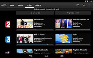Screenshot of francetv pluzz