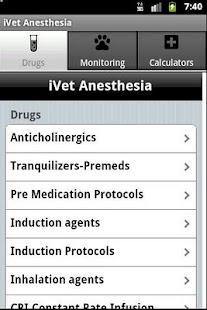 Vet Anesthesia Guide: miniatura da captura de tela