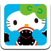 HELLO KITTY Clock Widget1