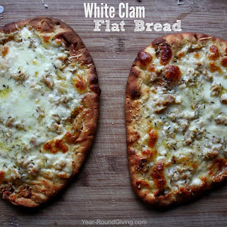 White Clam Flat Bread Pizza
