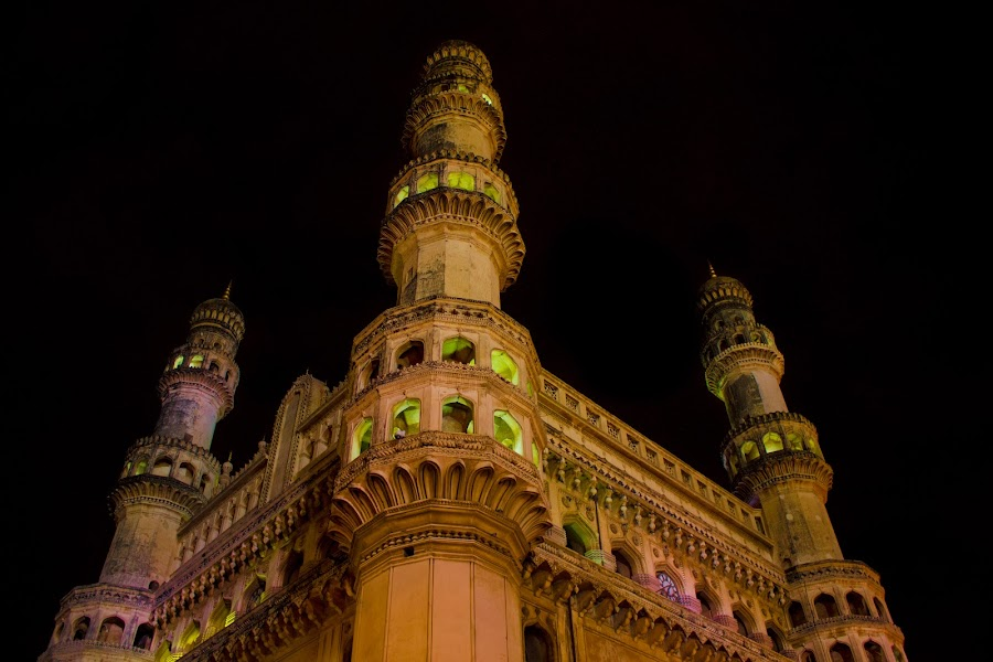 Charminar - Ramzan time by Bharath Kesana - Buildings & Architecture Statues & Monuments ( monuments, night view, buildings, photography, nightscape )