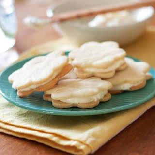 Lemon Sandwich Cookies with Triple Citrus Filing.
