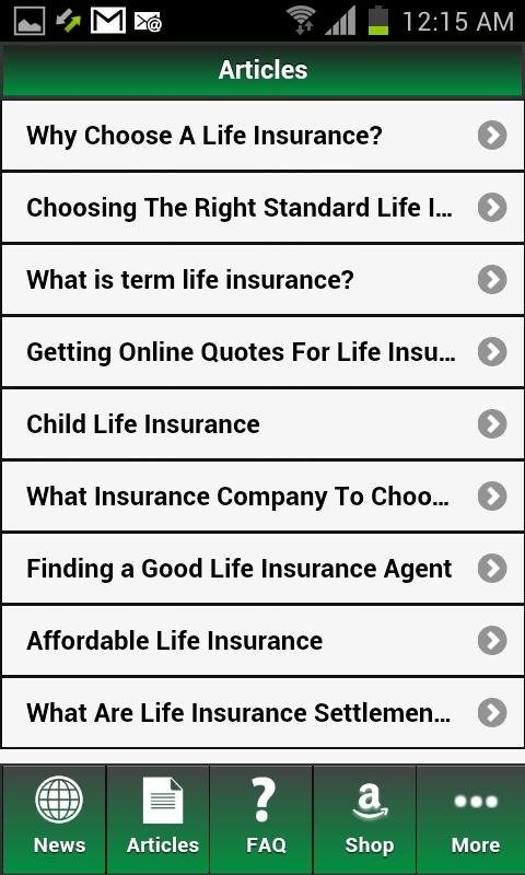 Life Insurance Au - screenshot