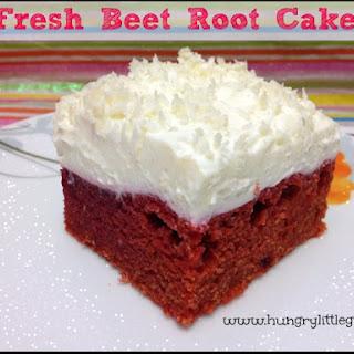 Fresh Beet Root Cake.