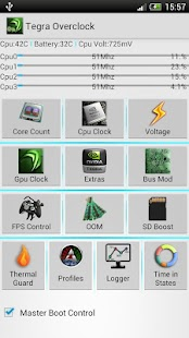 Tegra Overclock- screenshot thumbnail